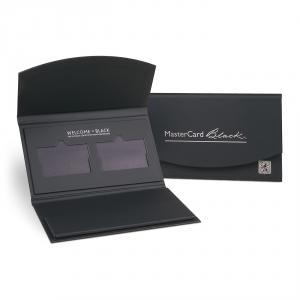 Master Card Black Bank Credit Card Carrier